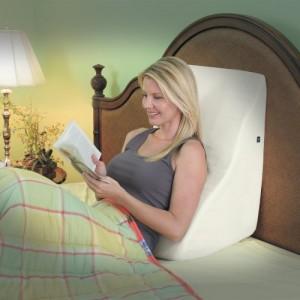 Contour Back Wedge Lumbar Pillow with Massage