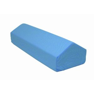 Supports your legs and keeps your back aligned. Makes it easier to sleep on your back